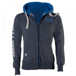 Regular zipper (grey/blue)